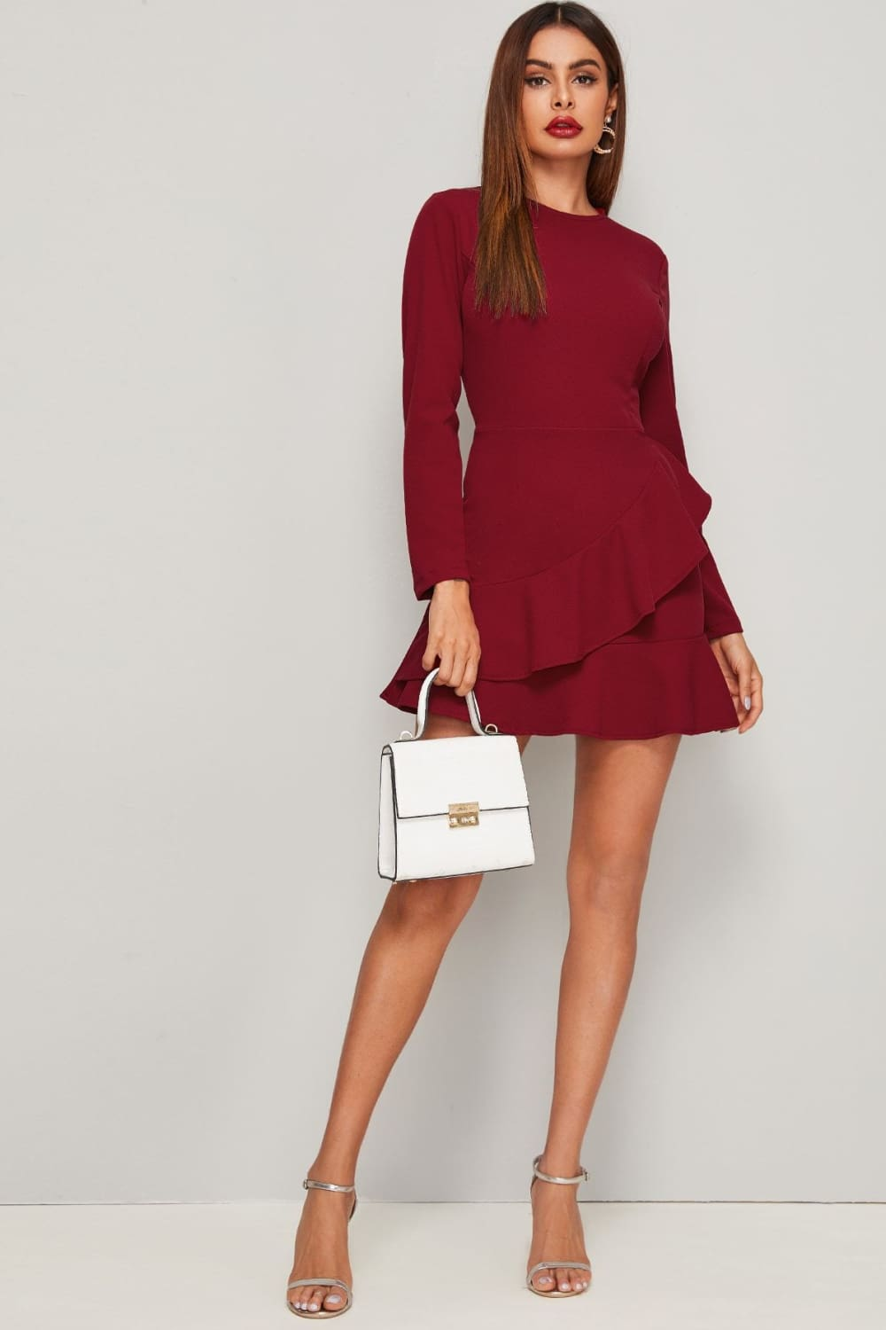 Romantic Night Long Sleeve Dress - Dresses - Evan & Jane