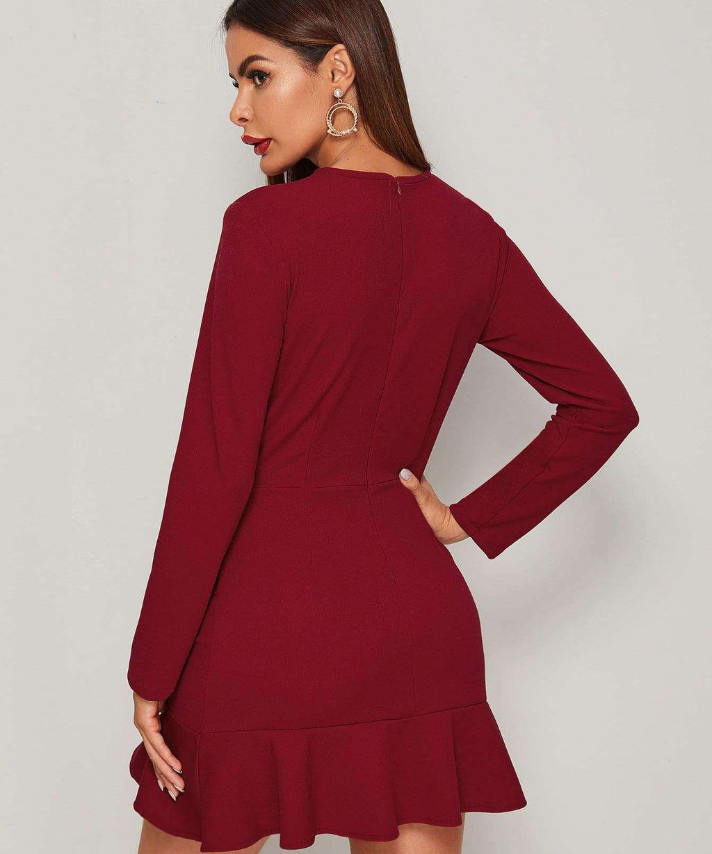 Romantic Night Long Sleeve Dress - Dresses