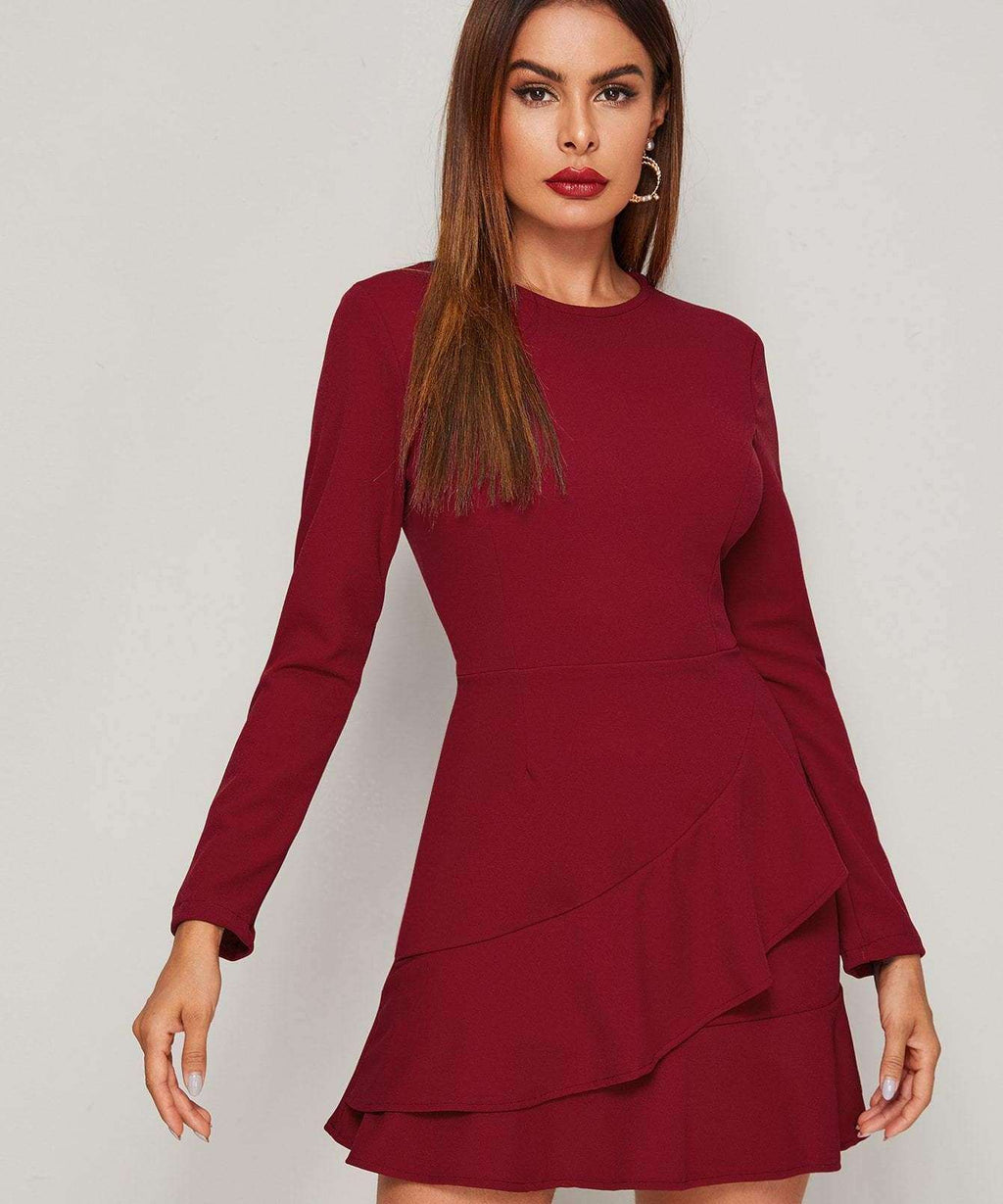 Romantic Night Long Sleeve Dress - S - Dresses