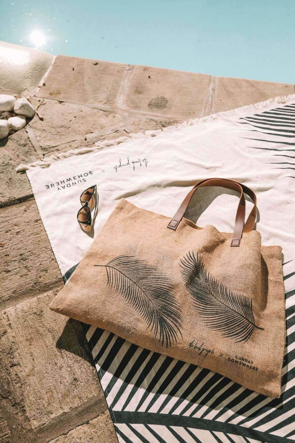 The Beach People Palm Jute Bag - Bags - The Beach People