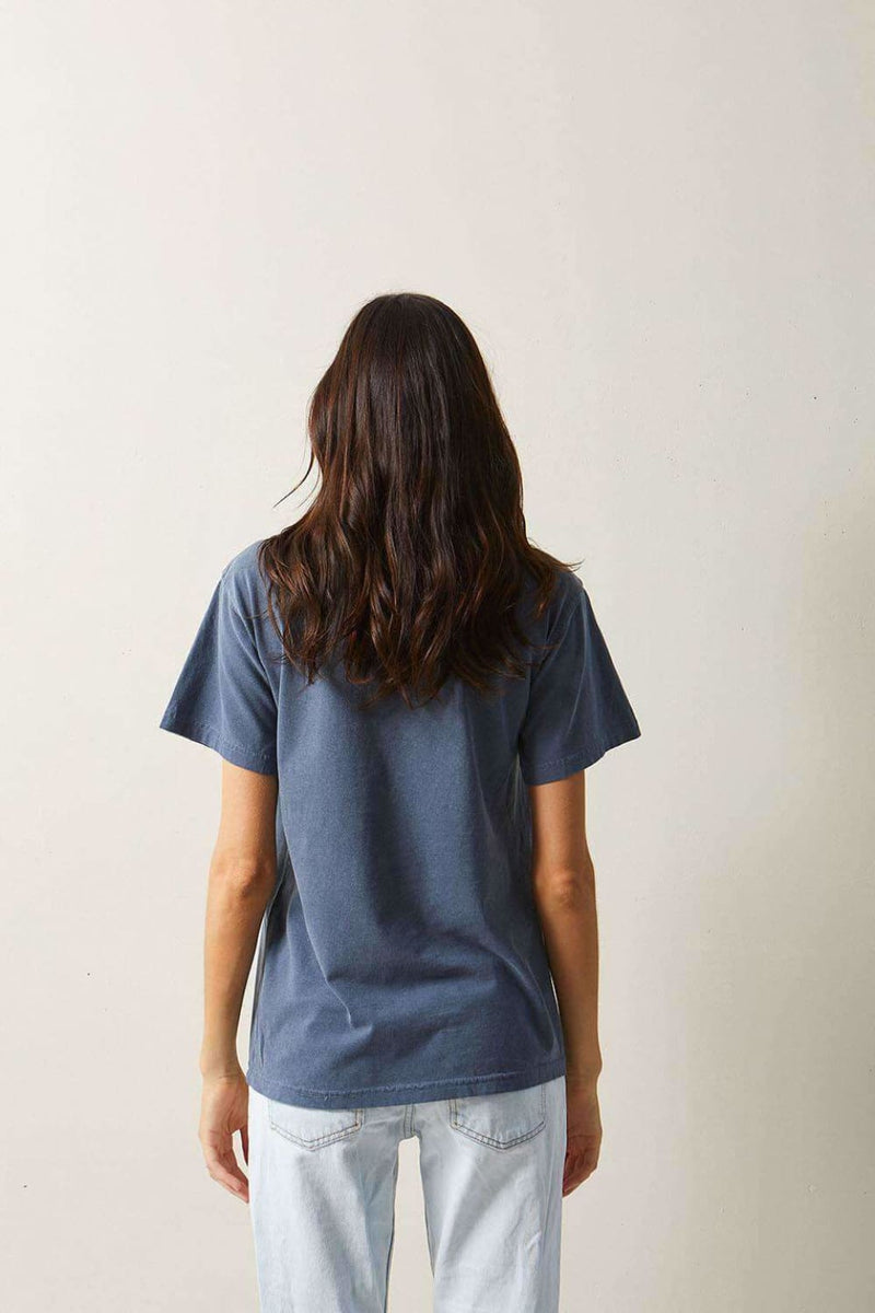 The Beach People Signature Tee Denim - Graphic Tees - The Beach People