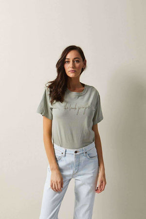 The Beach People Signature Tee Moss - Graphic Tees - The Beach People