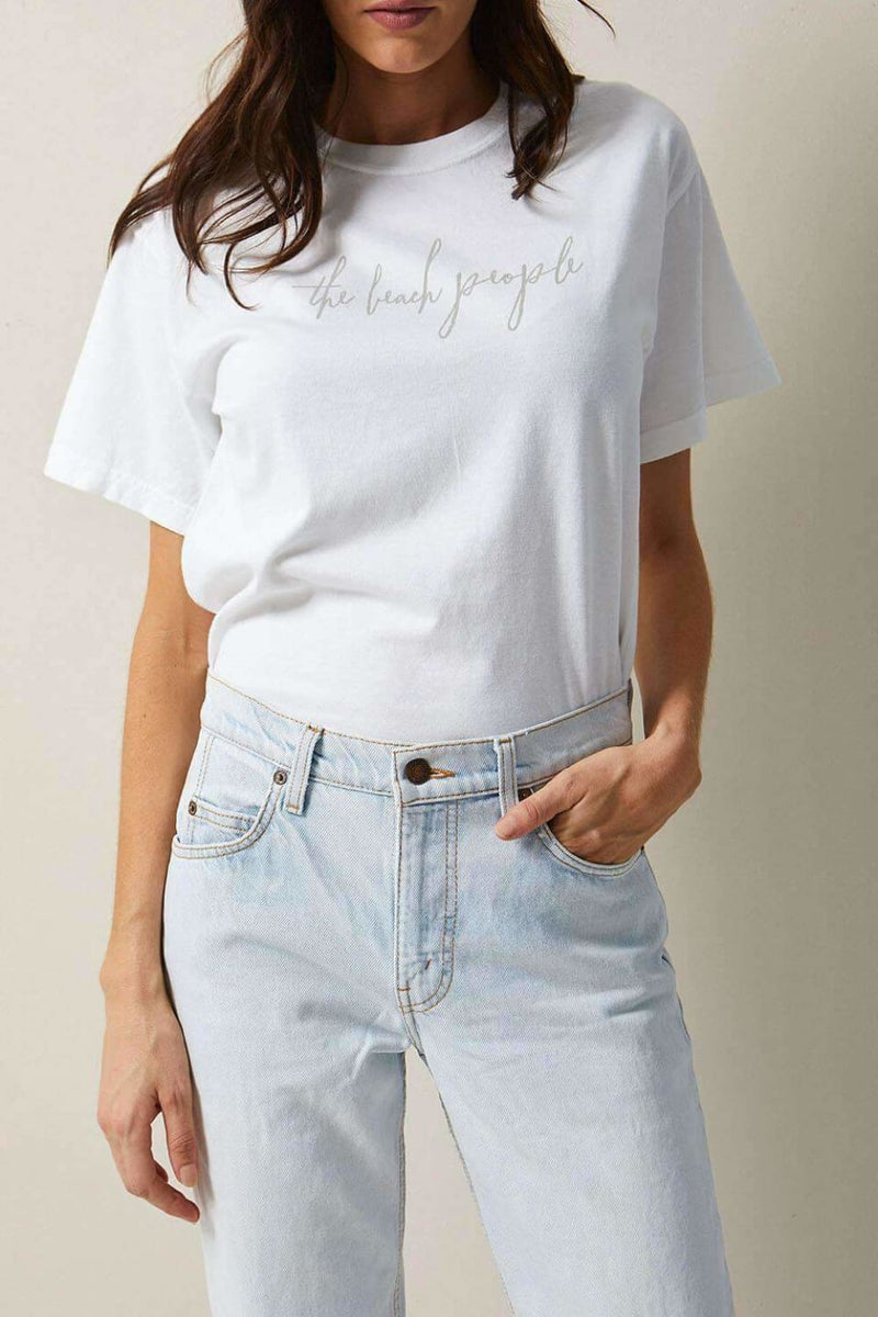 The Beach People Signature Tee White - Graphic Tees - The Beach People