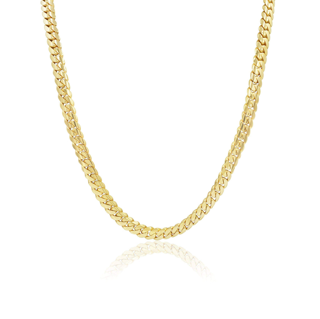 Las Villas Cuban Link Chain 22 inch / Yellow 8mm Cuban Link Chain in 10K Solid Gold