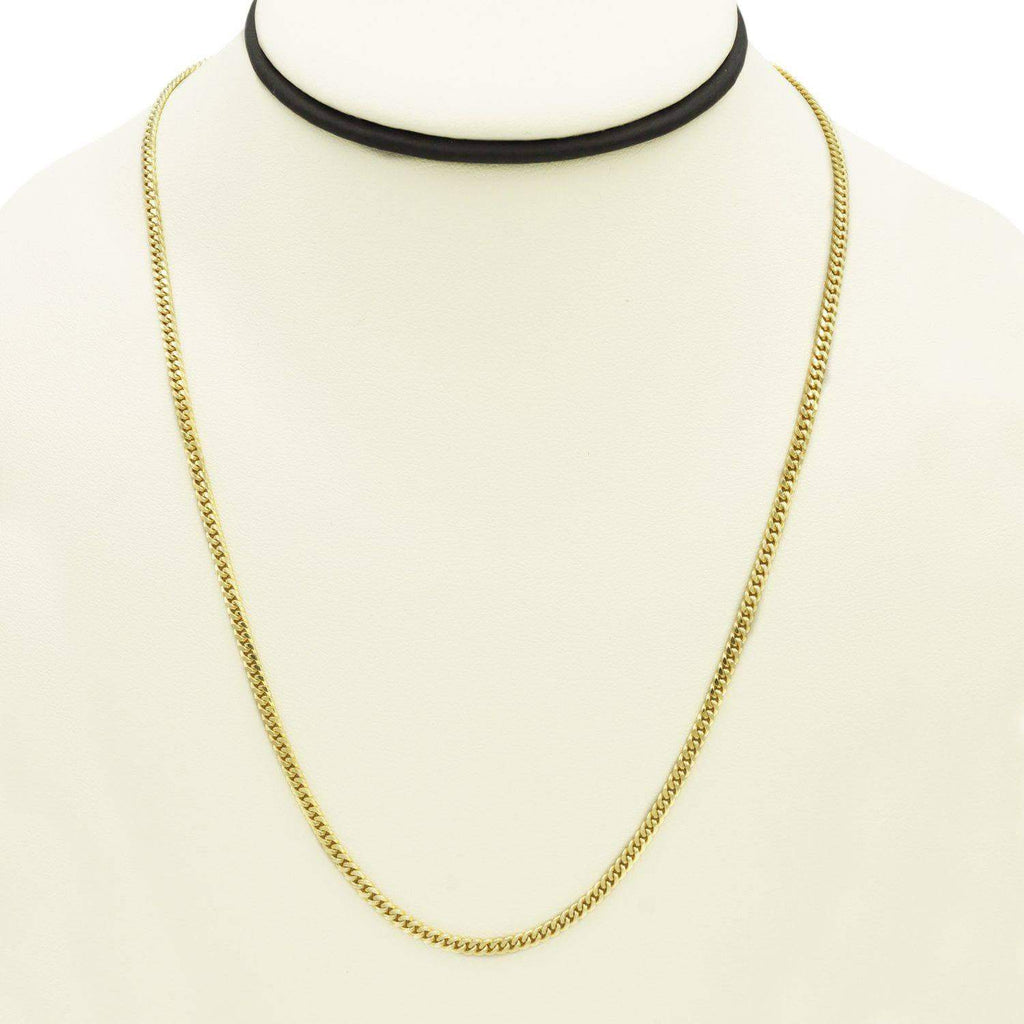 Las Villas Cuban Link Chain Mini Cuban Link Chain in 10K Solid Yellow Gold