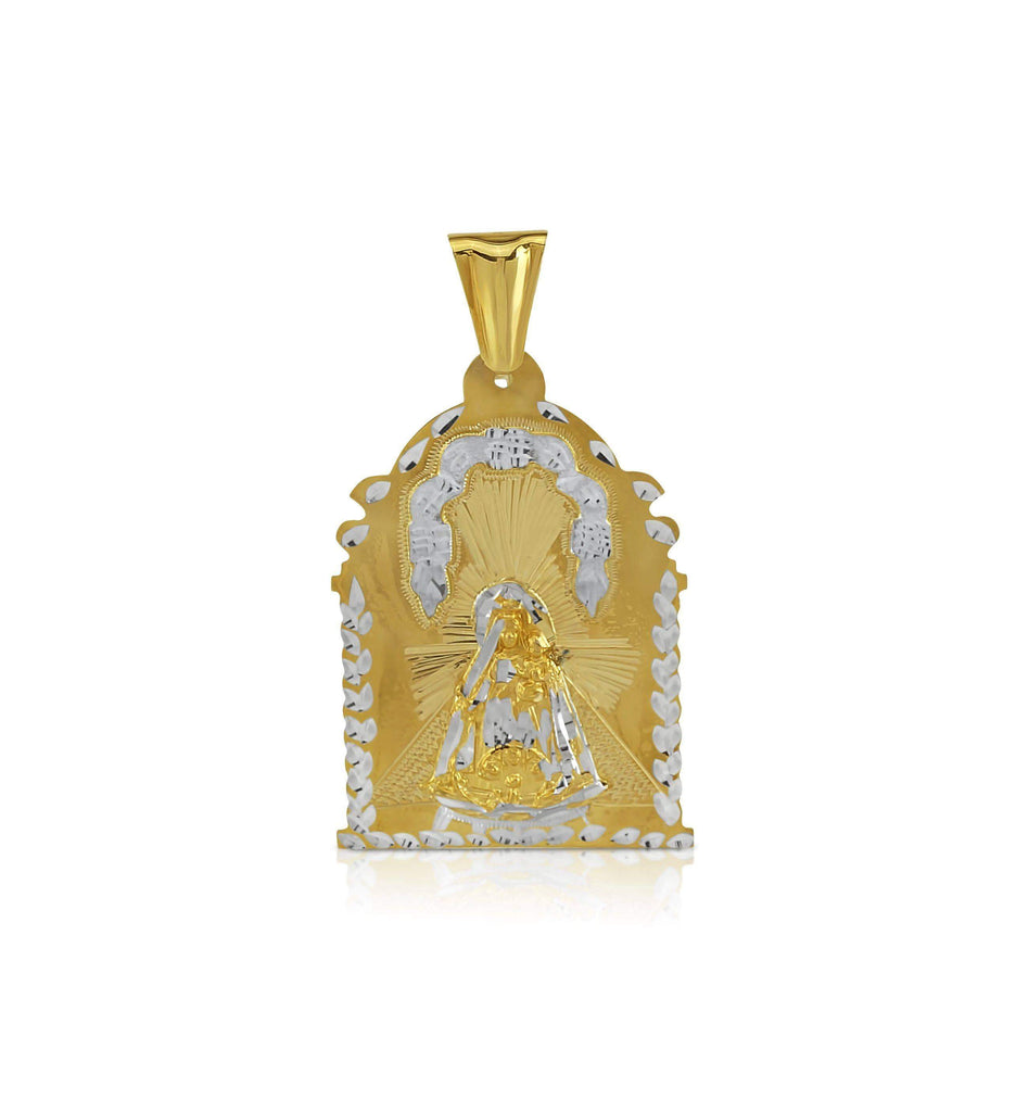 Las Villas Dijes 59 mm 10K Our Lady of El Cobre Solid Gold Pendant