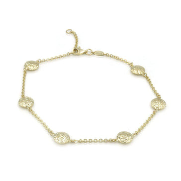 Las Villas Jewelry Anklets Womens Ball links Anklet in 14K Gold