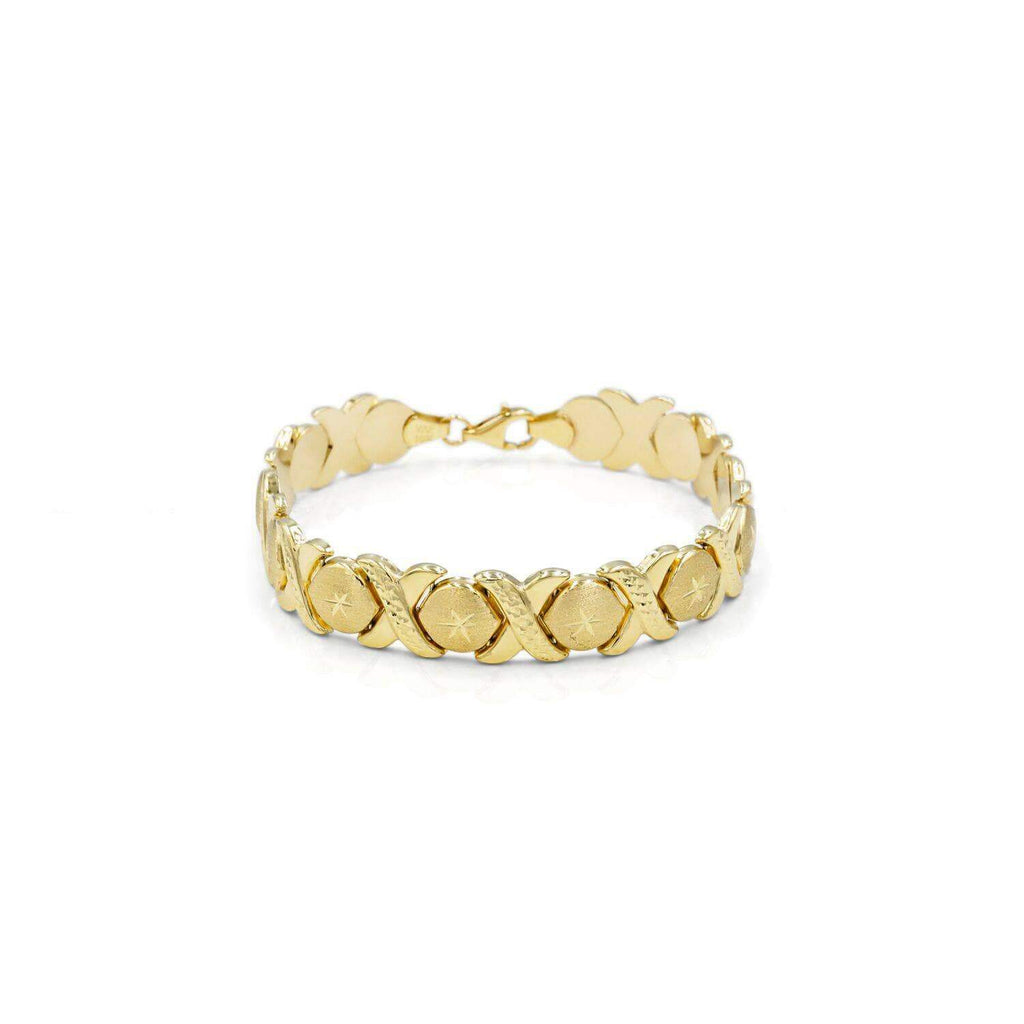 Las Villas Jewelry Italian Bracelet 14K XO-Hugs and Kisses Italian Bracelet