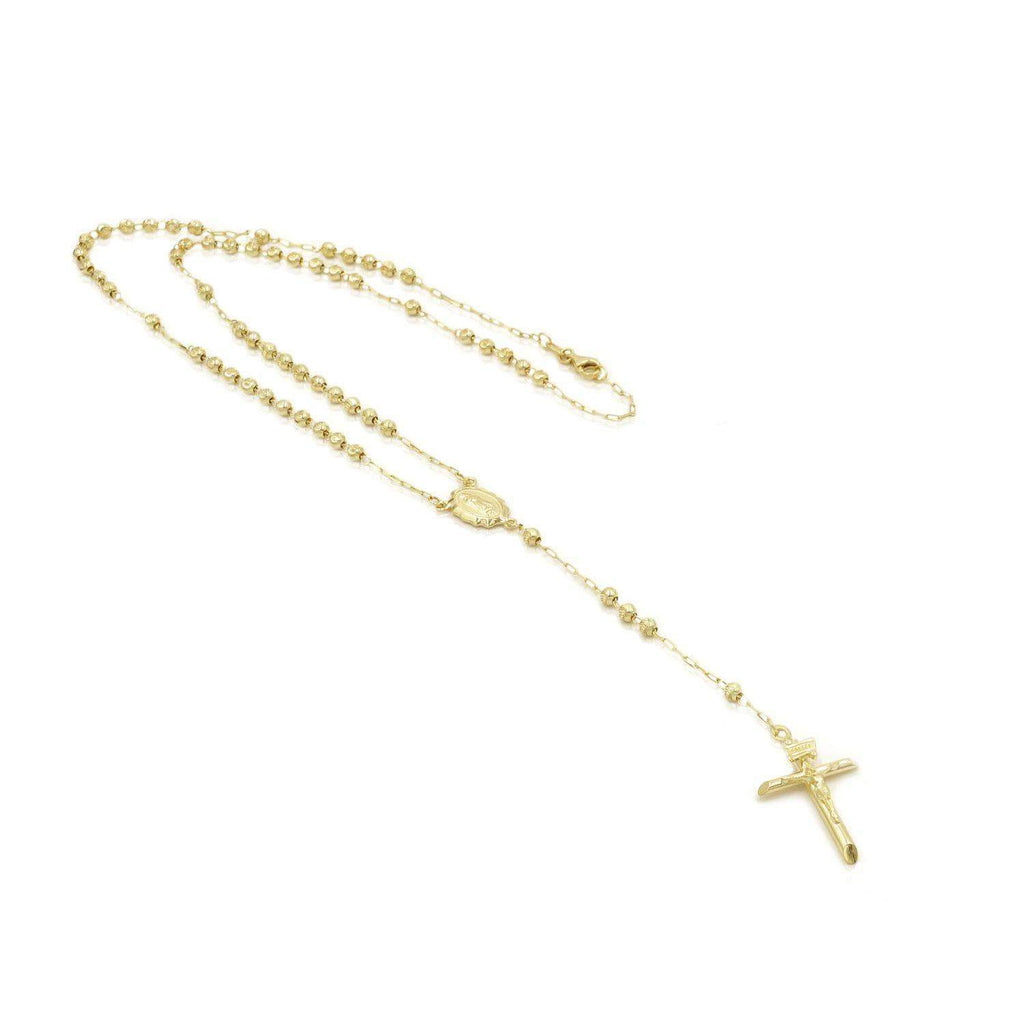 Las Villas Jewelry Rosary Rosary Cross necklace in 14k Gold