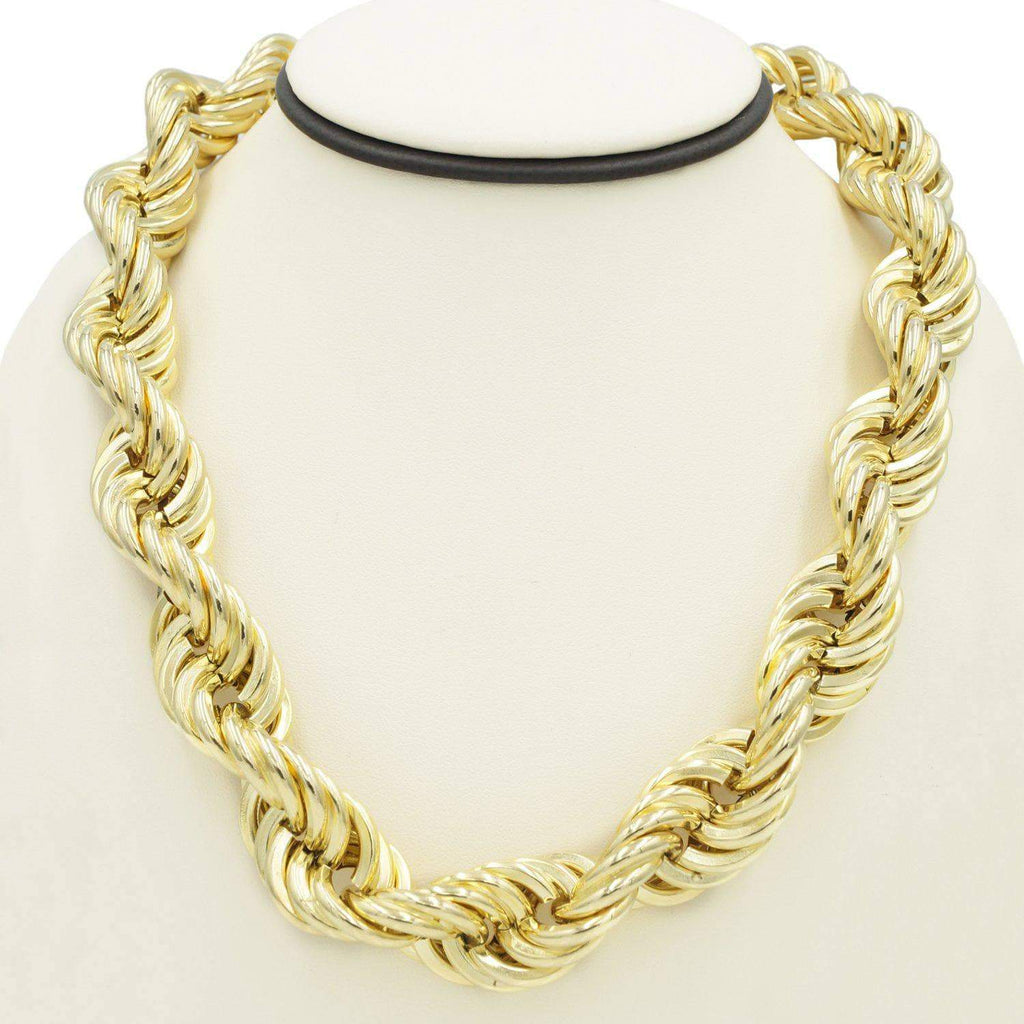 Las Villas Jewelry Women's Choker Necklaces Rope Choker Necklace in 14K Gold