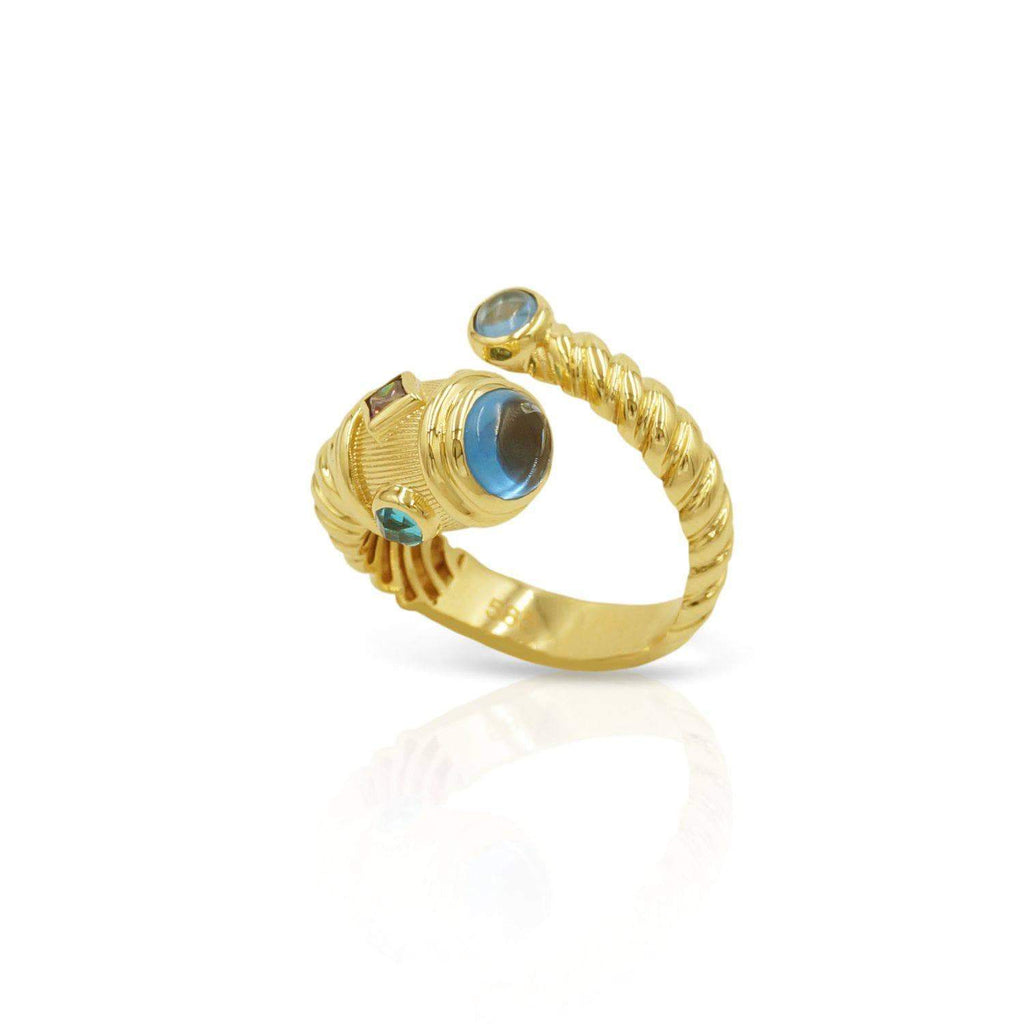 Las Villas Jewelry Womens Ring Stone Women's Designer Ring in 14kt Gold
