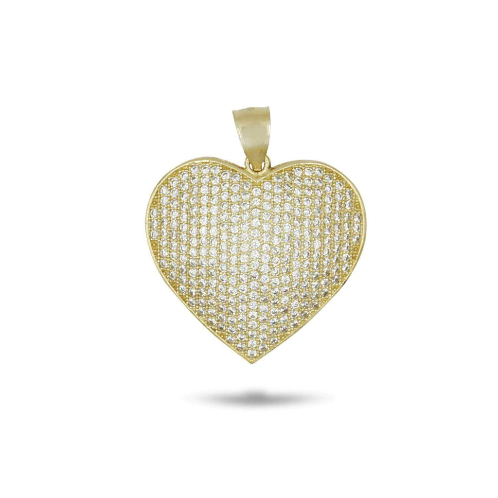 Las Villas Pendant 14K CZ Heart Pendant in Yellow Gold