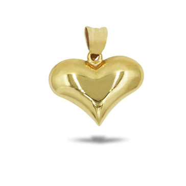 Las Villas Pendant 14K Small Heart Polished Pendant