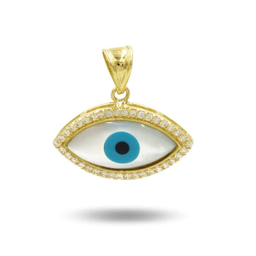 Las Villas Pendant Blue Stone Evil Eye Pendant with Zirconia Accents