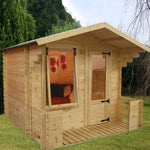 2.7m x 2.5m 19mm Log Cabin with Veranda