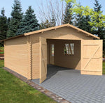 4.2m x 5.7m Log Style Garage Workshop