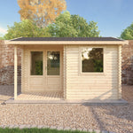 4m x 3m Home Office Executive Log Cabin - Barewood Buildings