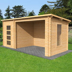 5.4m x 2.5m Pent Log Cabin With Open Space