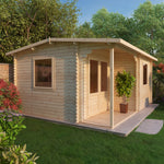 5m x 4m Home Office Executive Log Cabin - Barewood Buildings