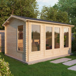 5m x 4m Home Office Director Log Cabin