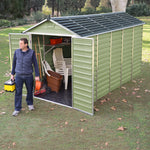 Plastic Shed Apex 12x6 (Green)