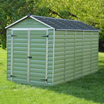 Plastic Apex Shed 12x6 (Green) - Barewood Buildings