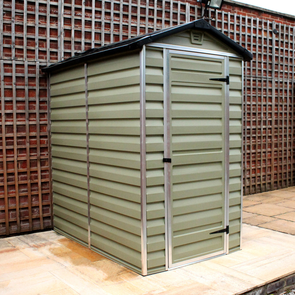 Plastic Shed Apex 4x6 (Green)