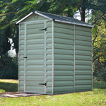 Plastic Apex Shed 4x6 (Green) - Barewood Buildings