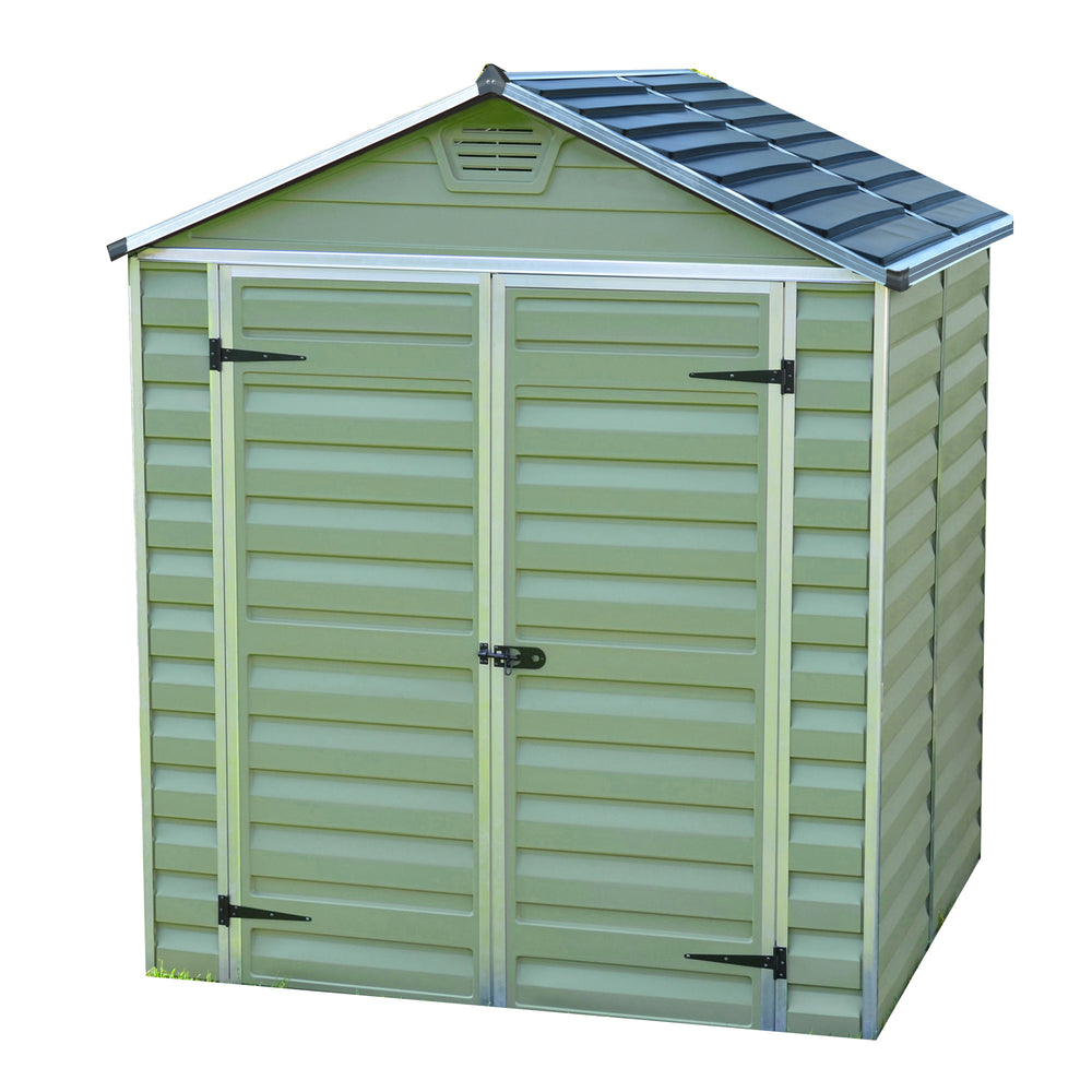 Plastic Apex Shed 5x6 (Green) - Barewood Buildings