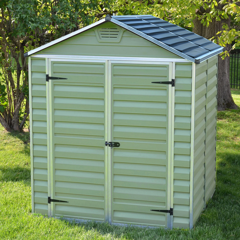Plastic Shed Apex 5x6 (Green)