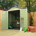 Plastic Apex Shed 8x6 (Green) - Barewood Buildings