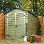 Plastic Shed Apex 8x6 (Green)