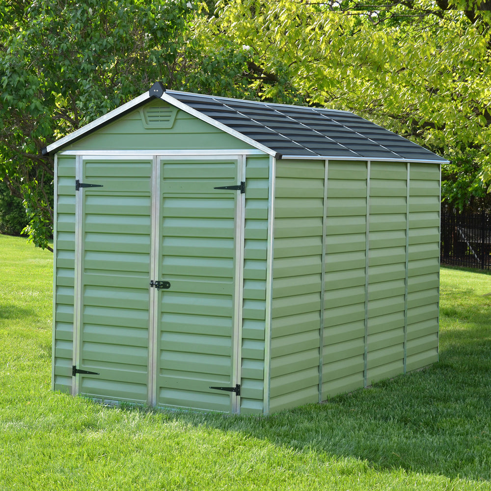 Plastic Shed Apex 10x6 (Green)