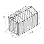 Plastic Apex Shed 10x6 (Green) - Barewood Buildings