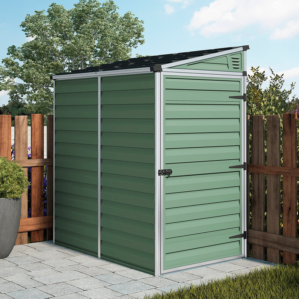 Plastic Shed Pent 6x4 (Green)