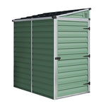 Plastic Pent Shed 6x4 (Green) - Barewood Buildings