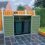 Plastic 4x3 Storage Unit (Green) - Barewood Buildings