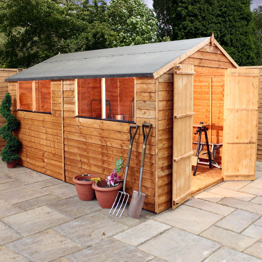 10x8 - Overlap Apex Shed - Barewood Buildings