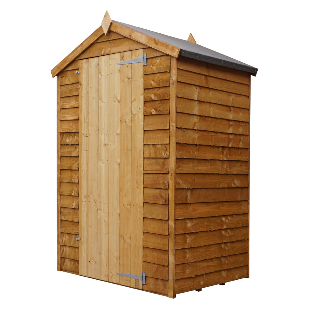 3x4 - Overlap Apex Shed - Windowless - Barewood Buildings