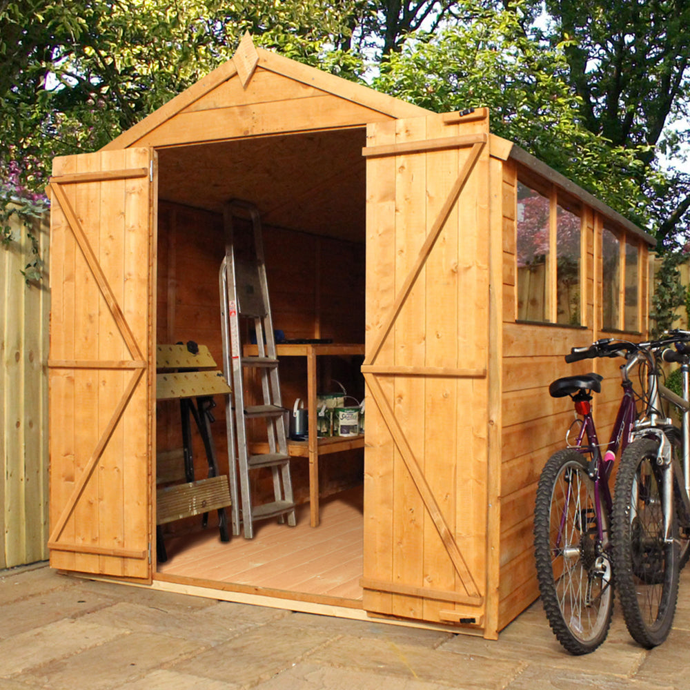 10x6 - Premium Workman Apex Shed - Barewood Buildings