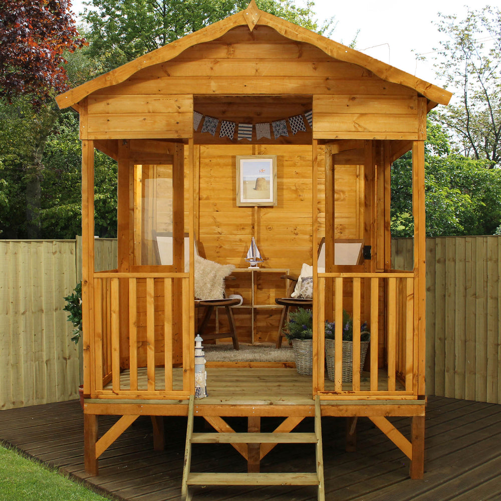 10x8 - Premium Beach Hut Summerhouse - Barewood Buildings