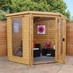 7x7 - Corner Summerhouse - Barewood Buildings