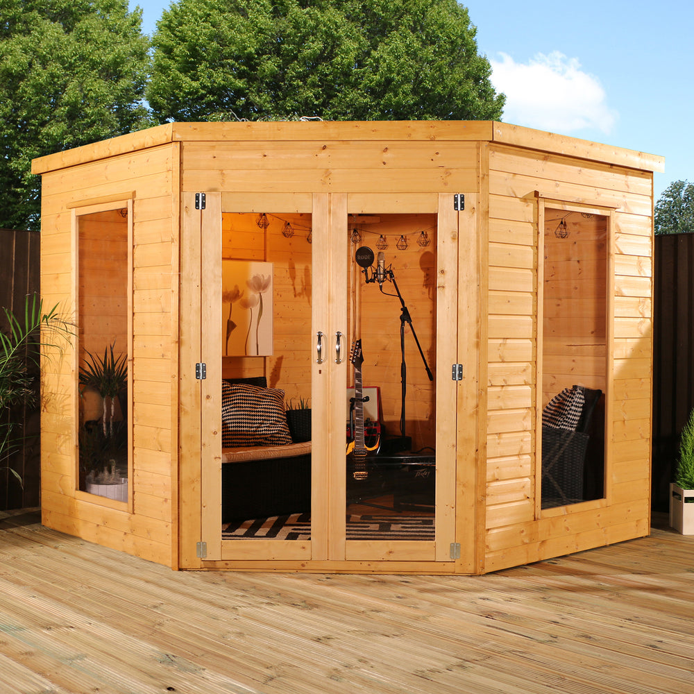 8x8 - Corner Summerhouse - Barewood Buildings