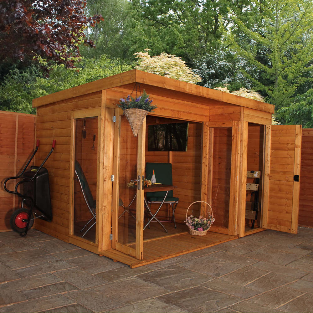 10x8 -  Premium Garden room with side shed