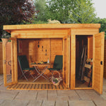 10x8 -  Premium Garden room with side shed - Barewood Buildings