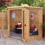 7x7 - Premium Corner Summerhouse - Barewood Buildings