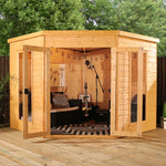 8x8 - Premium Corner Summerhouse - Barewood Buildings