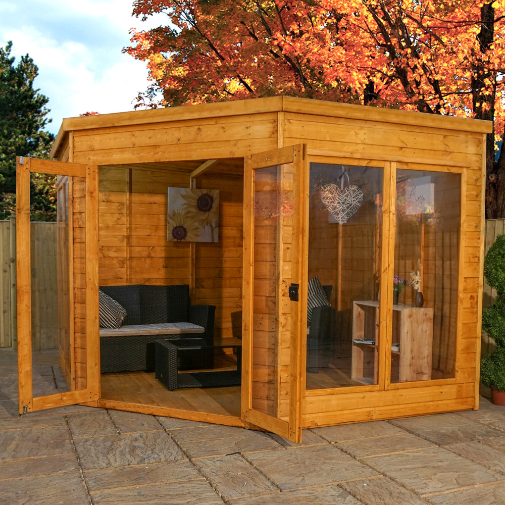 9x9 - Premium Corner Summerhouse - Barewood Buildings