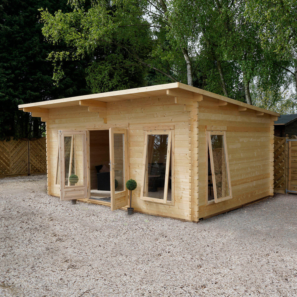 4m x 5.2m Contemporary Log Cabin