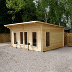 4m x 5.2m Contemporary Log Cabin - Barewood Buildings